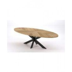ovel-dining-table-sawmark-wood-top-and-iron