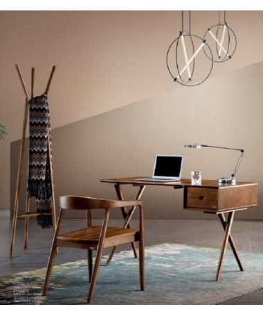 Wood desk with minimalist...