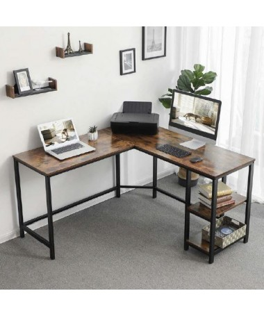 Table with corner shape and...