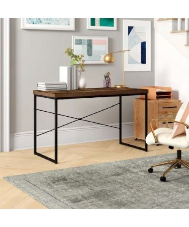 Office desk with metal legs