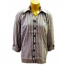 girls-3-4-sleeve-check-blouse
