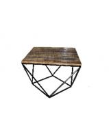 small-coffee-table-diamond-shape-of-wood-and-metal