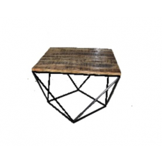 small-coffee-table-diamond-shape-of-wood-and-metal